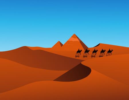 leasure: Deserto scena, illustrazione vettoriale, inclusi file EPS
