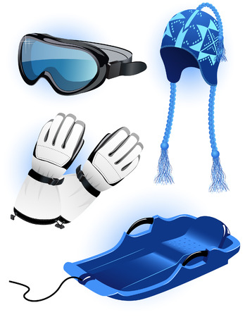 luge: Winter clothes, vector illustration, file included