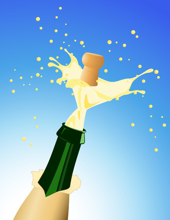 Champagne, vector illustration, file included Stock Vector - 4239844