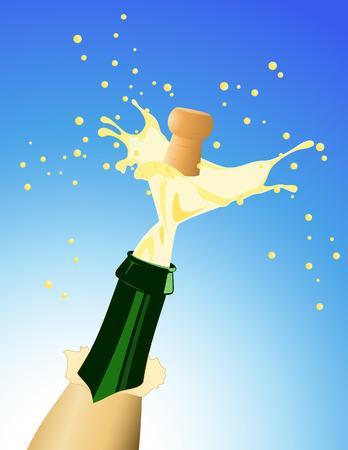 vector file: Champagne, vector illustration, file included Illustration
