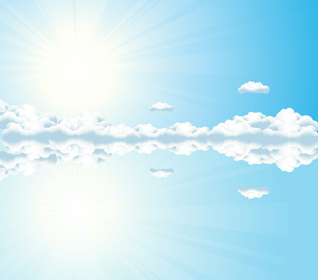 Sky reflection, vector illustration, file included Vector
