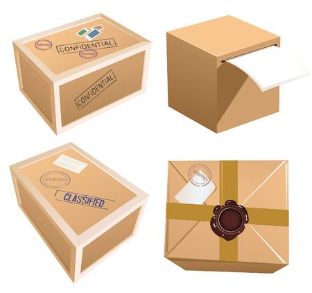 pasteboard: Parcels, vector illustration, file included Illustration