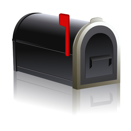 Black mailbox with reflection, vector illustration, file included Vector