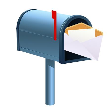 buzon de correos: Buz�n de aislados de fondo, ilustraci�n vectorial, archivo EPS incluido