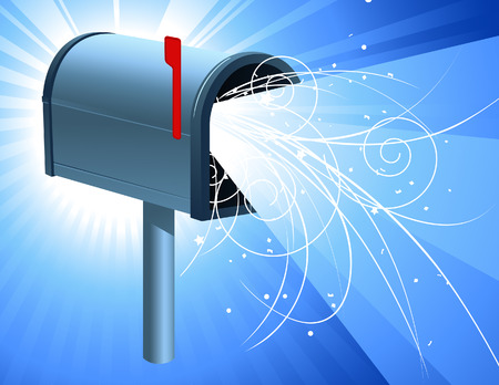 Mailbox with light, vector illustration, file included Vector