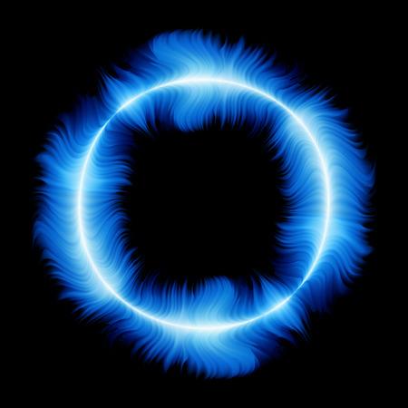 fuego azul: Anillo de fuego azul, ilustraci�n vectorial, archivo EPS incluido