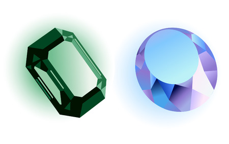 Precious stones, vector illustration, file included
