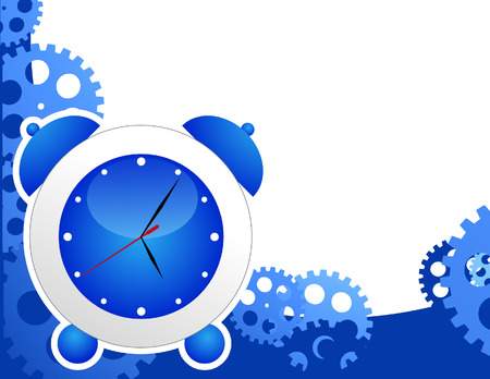 watch gears: Alarm clock background, vector illustration, file included Illustration