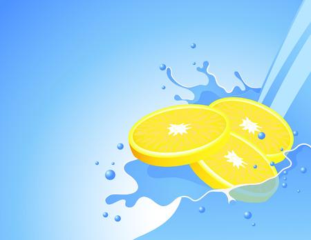 fiole: Lemon splash, illustration vectorielle, le fichier EPS inclus Illustration