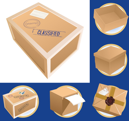 Parcel set, vector illustration, file included Vector