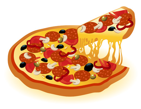 savoury: Pizza, vector illustration, file included