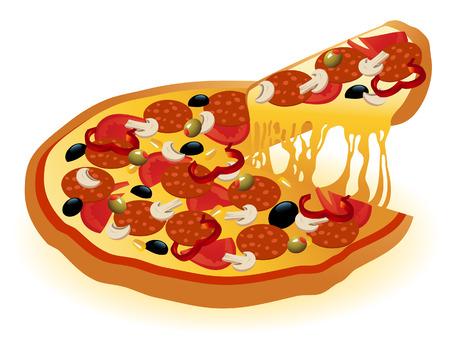 vector file: Pizza, vector illustration, file included