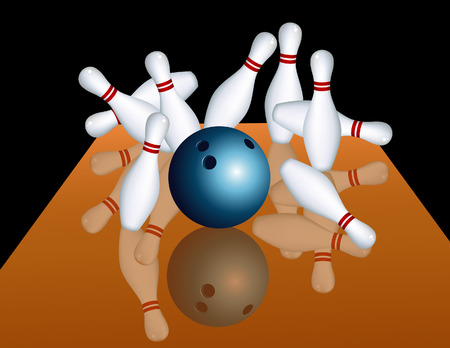 Bowling game, vector illustration, file included Stock Vector - 4512898