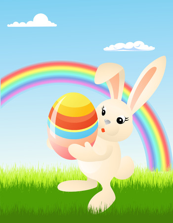 Easter bunny, vector illustration, file included Vector