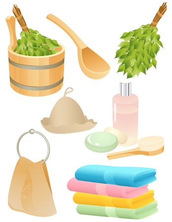 Bath accessories, vector illustration, file included