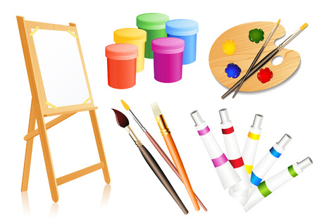 Drawing accessories, vector illustration, file included Stock Vector - 4650001