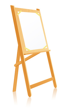 artist's canvas: Easel, vector illustration, file included