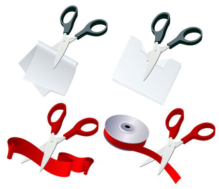 Scissor set, vector illustration, file included Vector