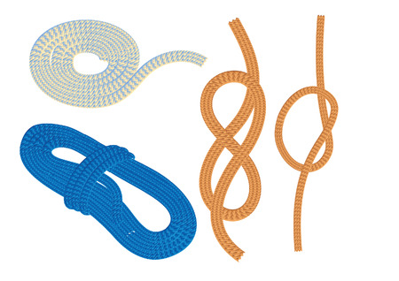 Ropes and knots, vector illustration, file included Stock Vector - 5044829