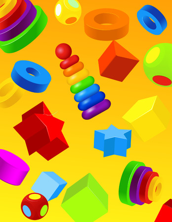 Toys background, vector illustration, file included Vector