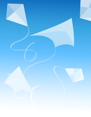flying kites: Kite, vector illustration, file included