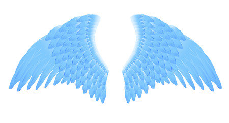 solemn: Blue angel wings, vector illustration, file included
