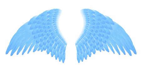 solemn: �ngel de alas azules, ilustraci�n vectorial, archivo EPS incluido