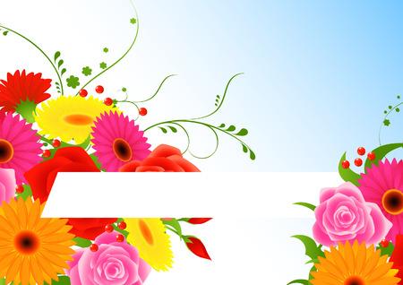 Flower background, vector illustration, file included Vector