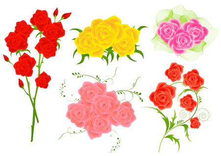 roseleaf: Roses, vector illustration, file included