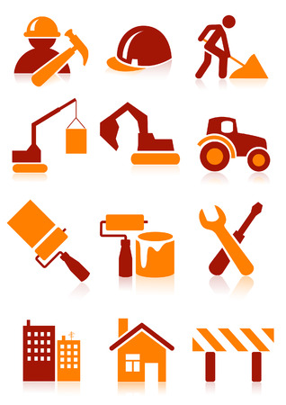 Building icons, vector illustration, file included Illustration