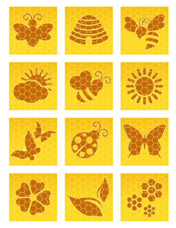stinger: Bee icons, vector illustration, file included Illustration