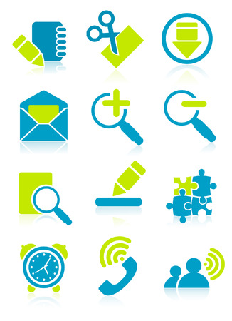 Office object icons, vector illustration, file included Illustration