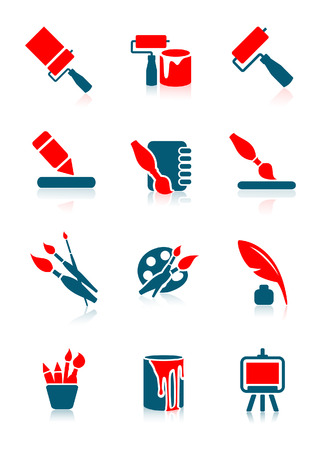 Drawing icons, vector illustration, file included