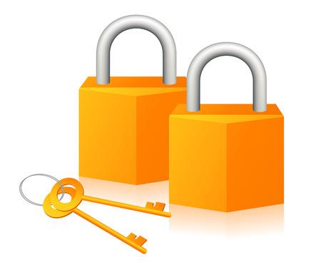 passkey: Pair of lock, vector illustration, EPS file included