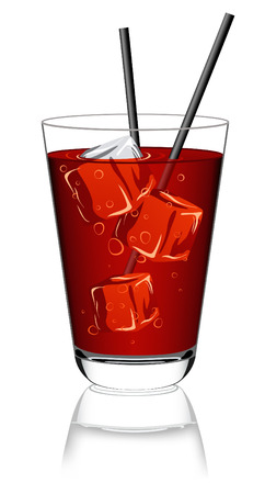 nonalcoholic: Bicchiere di limonata, vector illustration, EPS file included