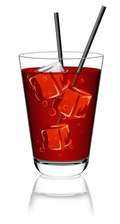 nonalcoholic: Glass of lemonade, vector illustration, EPS file included