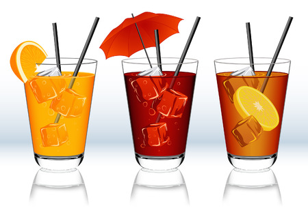 Drinks, vector illustration, file included Stock Vector - 5400222