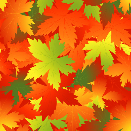 Bright autumnal leaf background, vector illustration, file included Stock Vector - 5444932