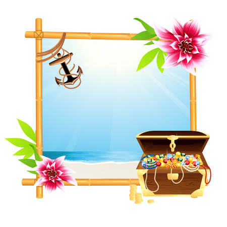 Frame with riches, vector illustration, EPS file included Vector