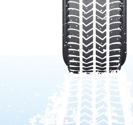 snowdrifts: Inverno neve pneumatico, illustrazione vettoriale, EPS file incluso