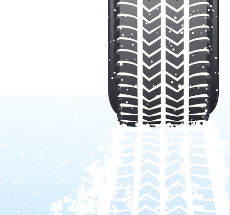 snow tire: Winter snow tyre, vector illustration, EPS file included Illustration