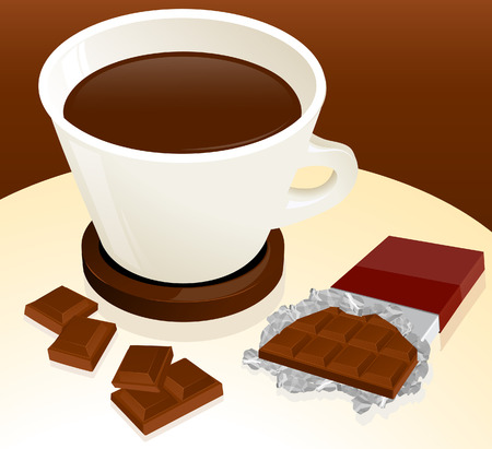 Coffee and chocolate,   illustration Stock Vector - 6263363