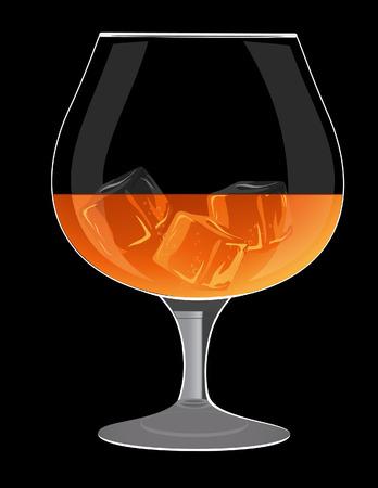 bocal: Bicchiere di brandy, illustrazione,  Vettoriali