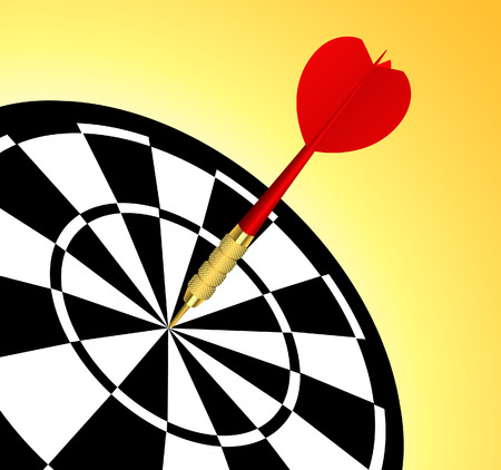 dart on target: Dart target, illustration, file included