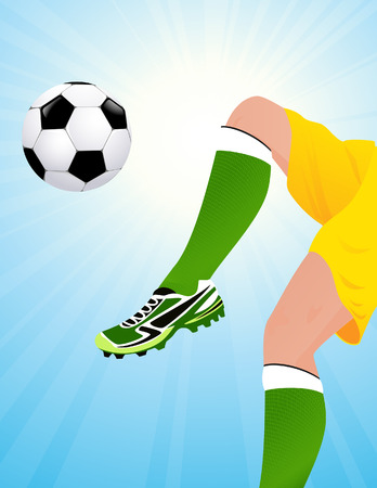 Football player jumping, , vector illustration, EPS file included Vector