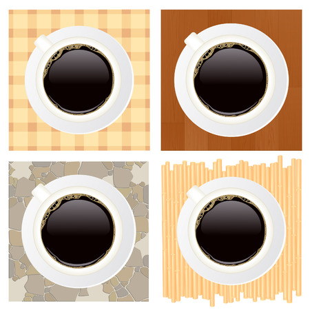 Cups of coffee, vector illustration, EPS file included Stock Vector - 6522265