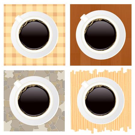 sweetmeats: Tazas de caf�, ilustraci�n vectorial, archivo EPS incluido