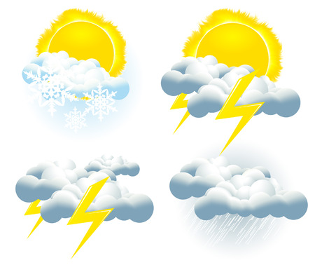 prognosis: Weather icons Illustration