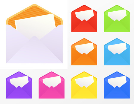Colored envelopes,  vector illustration, EPS file included Stock Vector - 6570674