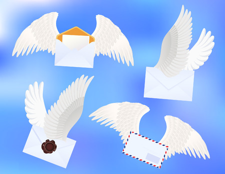 Flying letters, vector illustration, EPS file included Stock Vector - 6570679
